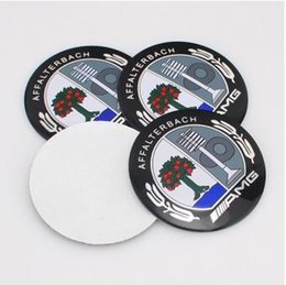 Wholesale 3d Stickers Tree - AMG Tree High Quality 56.5mm Aluminum alloy Sticker emblem badge    AMG for mercedes Car Wheel centre cover
