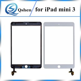 Wholesale Capacitive Touch Ic - A +++ For iPad Mini 3 Touch Screen Front Glass Digitizer Replacement Flex Cable + IC Connector Assembly One By One Check