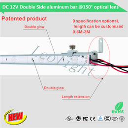 Wholesale Led Bar Products - Wholesale factory patent products double-sided LED aluminum alloy hard light bar 150 ° lens outdoor outdoor advertising