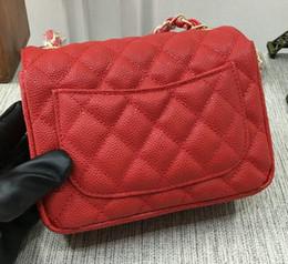 Wholesale cream silk flowers - Top Quality Quilted Chain Single Flap 17CM Mini Shoulder Bag Handbag Cluch Bag