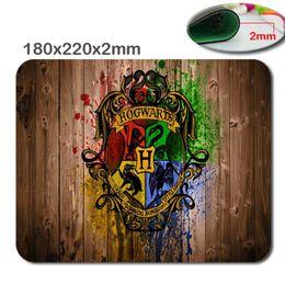 Rápido profissional personalizado Harry Potter Hogwarts Logotipo Retângulo Não-Slip De Borracha MousePad Computador mouse pad mfor casa e escritório de Fornecedores de origens de qualidade