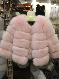 Wholesale Women Purple Vest - real fox fur vest full pelt fox fur vest women full sleeve coat natural fox fur