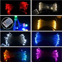 Wholesale Wholesale Mini Led Light String - 2M 3M 4M 5M LED String Mini Fairy Lights 3XAA Battery Operated White Warm White Blue Yellow Green Purple Pink Christmas Lights Christmas
