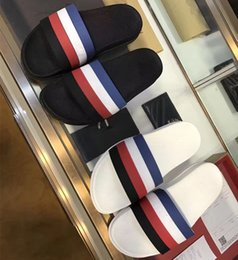 Wholesale Grid Floor - NEW 2017 Slippers flip flops men fashion High quality stripe grid Summer outdoor beach sandals slippers Size 38-45