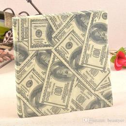 Wholesale Personalized Tissue Paper - Wholesale- New Personalized dollar Paper Napkin Festive & Party Tissue Napkins Decoupage Decoration Paper 33cm*33cm 20pcs pack lot