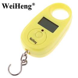 Wholesale Digital Hanging Weighing - DHL 100PCS WeiHeng 25Kg 55lb 5g Portable Mini Digital Hanging Lage scale Travel Hook Hanging Weighing Scale