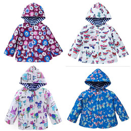 Wholesale Sports Activewear Fashion - 2017 Boys Girls Hooded Childrens Outwear Long Sleeve Floral Hoodies Clothing Fashion Outdoor Sport Activewear Sweatshirts Enfant Clothes
