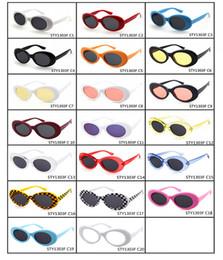 Wholesale Wholesale Rocks Glasses - Clout Goggles NIRVANA Kurt Cobain Glasses Classic Vintage Retro Oval Sunglasses Shades Sun Glasses Punk Rock Unisex Women Men