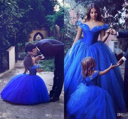 Wholesale Teen Girls Short Formal Dresses - 2017 Royal Blue Pageant Dresses For Girls Jewel Flower Girl Dresses For Toddlers Teens Kids Formal Wear Birthday Party Communion Dresses