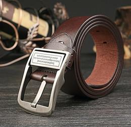 Wholesale Antique Solid Silver - Wholesale New Men's leather Needle buckle belt Antique jeans belt A033