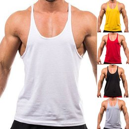 Wholesale Trendy Tank Tops Wholesale - Wholesale- New Trendy Men's Fashion Sleeveless Singlets Muscle Vest Fitness Workout Tank Top Store 50