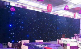 Wholesale Led Backdrops Curtain - NEW 60 Square Meters Blue-White Color LED Star Curtain Wedding Stage Backdrops Cloth With Lighting Controller For Wedding Decoration Su