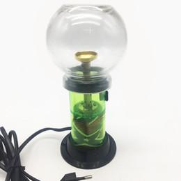 Più nuova sigaretta verde a base di erbe aromaterapia narghilè enorme erba secca vaporizzatore con 3 colori luce regolazione del riscaldamento da