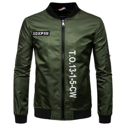 Wholesale Varsity Jackets Free Shipping - Free Shipping High Quality Ma1 Army Green Tactical Military varsity Flight Windbreaker Pilot US Air Force Bomber Jacket for Men Clothes