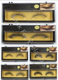 Wholesale Long Natural Feather Extension - 2017 NEW False Eyelashes Handmade Natural Long Thick Mink Fur Eyelashes Soft Fake Eye Lash extensions Black Terrier Full Strip Lashes
