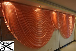 Wholesale New Years Celebration - 6m wide swags valance wedding stylist designs backdrop Party Curtain drapes Celebration Stage Performance Background Satin Drape wall