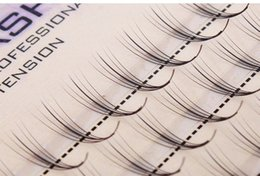 Wholesale Eyelash Extensions C 12mm - Volume 5D False Eyelashes 1-1.5cm 0.07mm Thickness Hair Mink Strip Individual False Eyelashes Extensions with Party makeup 8-12mm