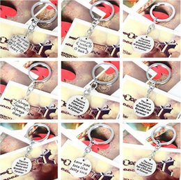Wholesale Ceremony Room Decoration - Brand new Family affection series lettering key ring key ring selling Mother 's Day gift R007 Arts and Crafts mix order