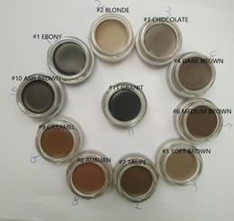 Wholesale Media Packages - Eyebrow Pomade Makeup Waterproof Eyebrow Enhancers 4g Blonde Chocolate Dark Brown Ebony Auburn Medium Brown TALPE With Retail Package
