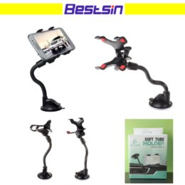 Wholesale rotating arm - 360 Degree Rotating Long Arm Windshield mobile phone Car Mount Bracket Holder Stand for iPhone Cellphone GPS MP4 With the Retail Box
