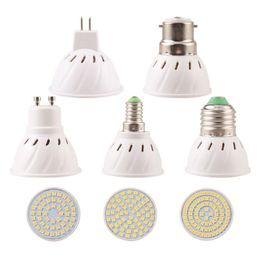 Wholesale Corn Type E27 Lamps - Bright cup type Spotlight E27 MR16 GU10 E14 B22 2835SMD Lampada LED Bulb 110V 220V LED Lamp optional for home indoor lighting