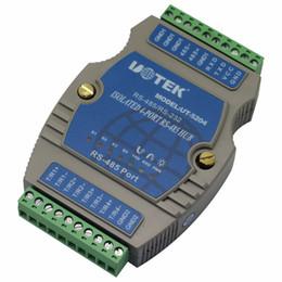 Wholesale Guide Rails - UTEK UT-5204 4port RS485 Guide Rail Type Intelligent Hub(4-port RS-485 Hub, Rail-mounted,binding post, PhotoElectric isolation)