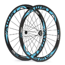 Wholesale Carbon Powerway Hub - Original carbon wheels 50mm full carbon bicycle wheels glossy clincher basalt surface china cycling wheels with powerway hubs free shipping