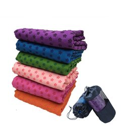 Wholesale Pink Yoga Mat Bag - Wholesale-Yoga Pilates Mat blanket towel cover 183*61cm anti-slip non slip Clearance Soft travel Sport Fitness with free Net Bag 10mm