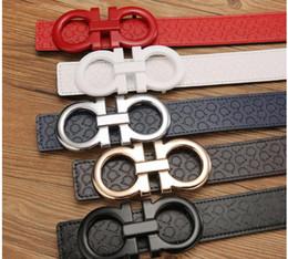 Wholesale Leather Fashion For Men - 2017New fashion men big buckle belts High quality belts designer genuine leather belt for men women belts free shipping