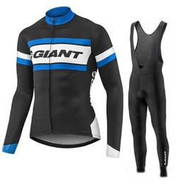 Wholesale Giant Long Bib - 2017 GIANT cycling jersey mountain bike jersey wear long sleeve bib set cycling clothes China