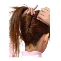 Wholesale Braiding Clip - Wholesale- 36pcs Hair Pins U Shape Metal Black Hair Clips Styling Tools Screw Barrette Hairdresser Accesories Head Clips Braiding Hairpins