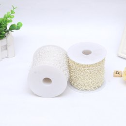 Wholesale Pearl Tree - Bead ABS Plastic Line Clothing Manual DIY Roll Lvory Pearl Parts Wedding Dress Accessories Beads Pendant Factory Direct 32gl C