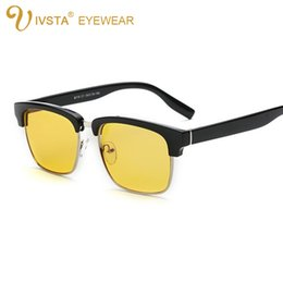 Wholesale IVSTA Computer glasses men Anti blue rays radiation protection fatigue glare women Gaming officer white collar half rim
