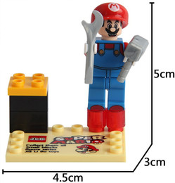 Wholesale Top Toy Figures - color box packing top selling super Mario Mini Building Blocks figures Baby Brick toy Kids Gift from shenzhen factory