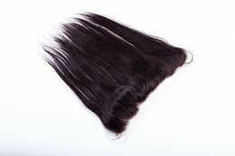 "Wholesale Lace Frontal Closure 13x2 - Brazilian Hair Lace Frontal Closure 13x2 Bleached Knots 8-20"" straight Full Lace Frontal Brazilian Closure no tangle no shedding"