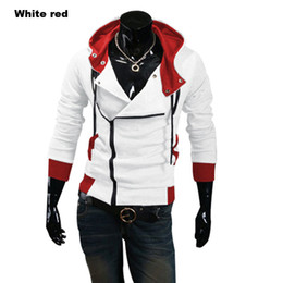 Wholesale Inclined Zipper Jacket - Wholesale-2016 Spring and Autumn Men's Long Sleeve Lovers Jacket Cotton Coat with A Hat Hoodie Inclined Zipper Hooded