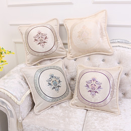 Wholesale Classic Pillow Cases - Pillowcase European and American Classic Retro Jacquard Sofa Cushions Pillow Covers Fashion Office Pillow Car Pillow Case