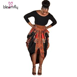 Wholesale Long Dresses For Ladies - Wholesale African dresses for women Dashiki printed Dresses Women Clothing Long Sleeve For ladies plus size african clothing