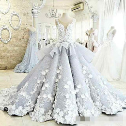 Wholesale Country Style Flowers - Princess Ball Gown Wedding Dresses Real Image Lace Vintage Colorful Country Style Bridal Gown Plus Size 2017 Beaded Wedding Gowns Custom