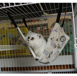 Wholesale Furnitures Wholesalers - 2017 Cat Hammocks Signature Cotton Soft Cats Beds Colorful Cattery with Pothooks Pet Furnitures for Kids as the Christmas Gifts