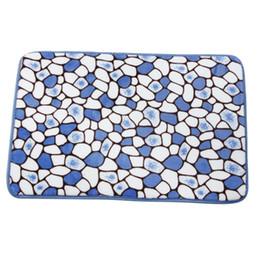 Оптовая продажа-60 * 40 см 4 цвета пены памяти коврик для ванной ковер душ нескользящей ковер пола счастливые подарки высокое качество коралловый флис 19 октября от