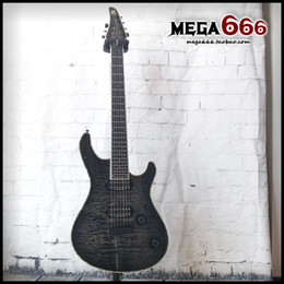 Wholesale Quilted Guitar - Mayones regius GUITAR 7 string electric guitar quilted 4a maple body top and ash Neck through body Seymour duncan pickups