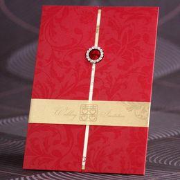 Wholesale Pack Wedding Invitation Cards - Wholesale- 15 pieces pack Invitation card wedding invitation card married 2014 wedding invitation card personalized red fashion urged