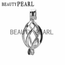 Wholesale Twister Plates - 5 Pieces Wholesale Gift Cage 925 Sterling Silver Locket Helix Pendant & Twister Cage for Pearl and Gems