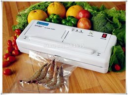 Wholesale Vacuum Heat Sealers - Free Express Shipping ! Home Electric Vacuum Food Sealer Heat Sealing Machine Household Packing Sealers Food Saver Preserver