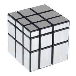Wholesale coat drawing - 3x3x3 57mm Wire Drawing Style Cast Coated Magic Cube Challenge Gifts Puzzle Mirror Cubes Educational Toy Special Toys