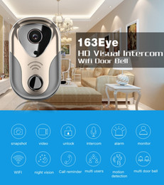 sistemi wireless per la sicurezza domestica di monitoraggio Sconti WiFi Smart Video Citofono 1.0MP HD 720P Wireless Video Citofono Home Security Monitor Campanello Telecamera con scatola al minuto
