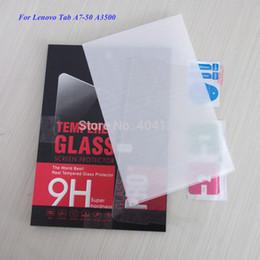 2019 boas guias Atacado- boa qualidade HD filme de vidro temperado para Lenovo Tab A7-50 A3500 protetor de tela (50PCS / Lot) desconto boas guias