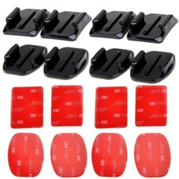Wholesale Adhesive Mount For Gopro - SHOOT accessories Flat Curved Adhesive Mount Base with VHB For Gopro Hero 5 4 3 Session SJCAM SJ4000 SJ6000 H9 h9r Kits