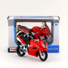 Wholesale Honda Diecast - Free Shipping Maisto 1:18 Motorcycle Honda VFR Model Diecast Toy Collection Educational Exquisite Gift For Children